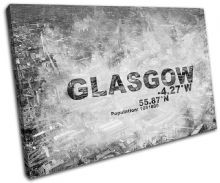 Glasgow Scotland City Typography - 13-2115(00B)-SG32-LO